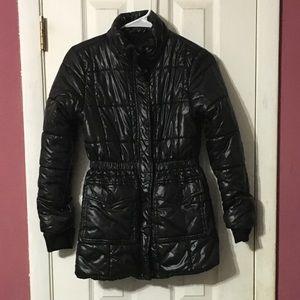 Urban Republic girls black coat with hood